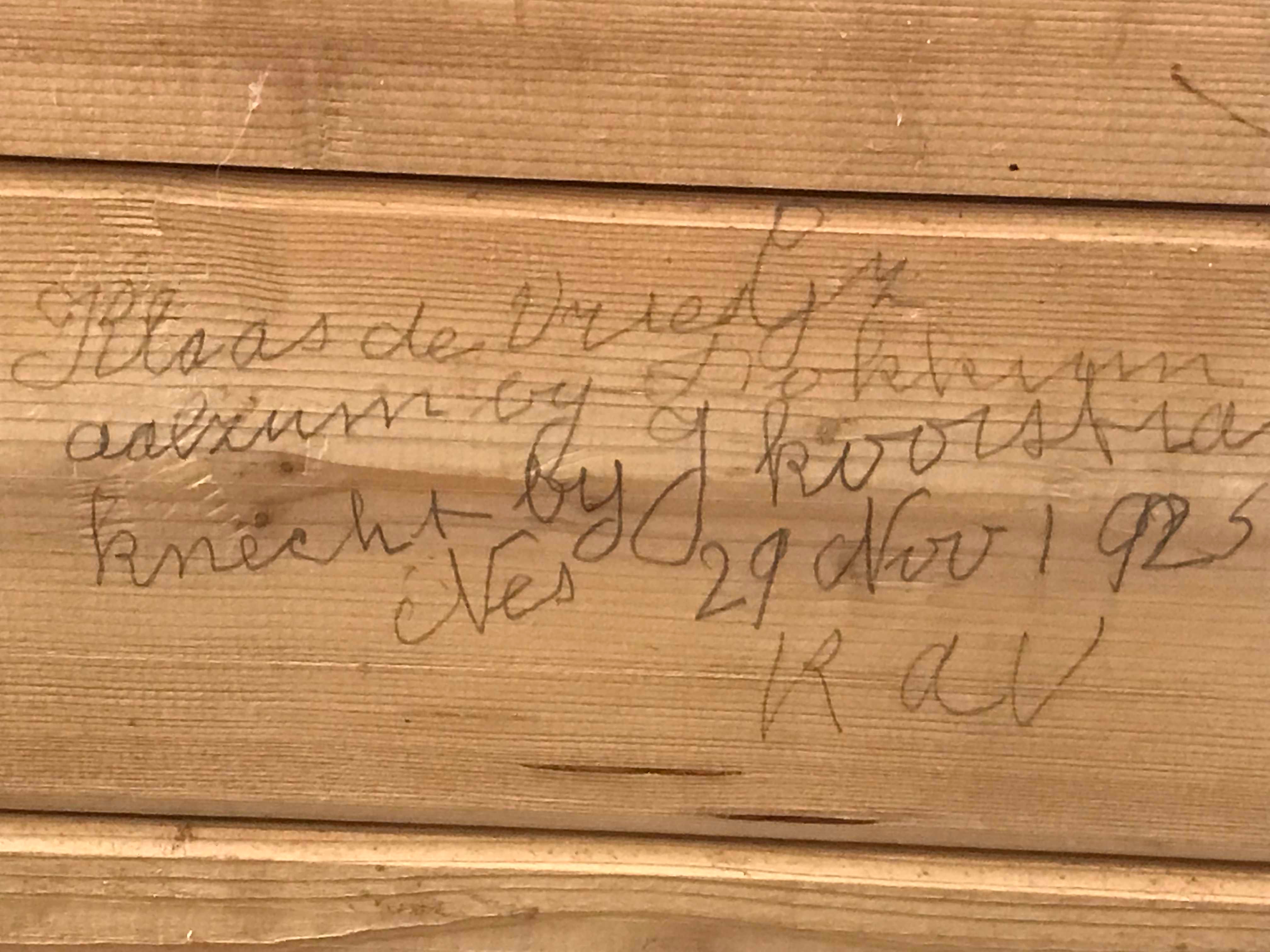 Tijdens verbouwing Theaterkerk Nes komt handtekening uit 1925 tevoorschijn